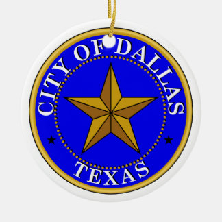 Dallas Seal Ceramic Ornament