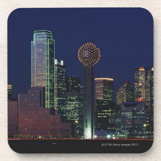 Dallas Skyline at Night Drink Coaster