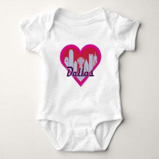 Dallas Skyline Heart Baby Bodysuit