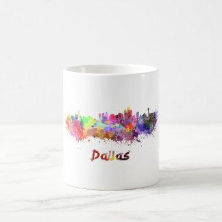 Dallas skyline in watercolor coffee mug