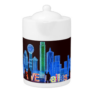 Dallas Skyline Tea Pot