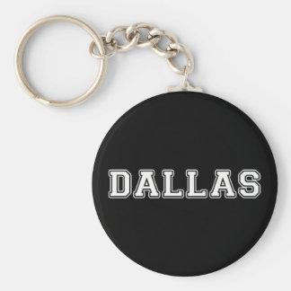 Dallas Texas Basic Round Button Keychain