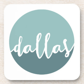 Dallas, Texas | Blue Ombre Circle Drink Coasters