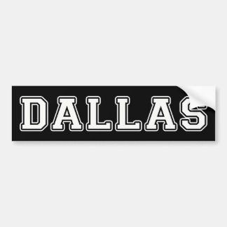 Dallas Texas Bumper Sticker