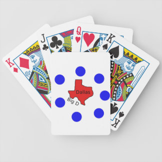 Dallas, Texas City Design (Big D) Bicycle Playing Cards