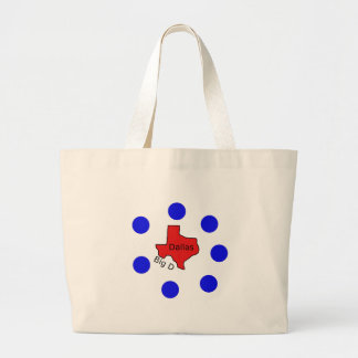 Dallas, Texas City Design (Big D) Large Tote Bag