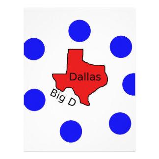 Dallas, Texas City Design (Big D) Letterhead