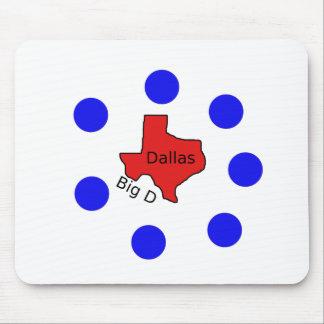 Dallas, Texas City Design (Big D) Mouse Pad