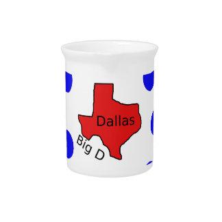 Dallas, Texas City Design (Big D) Pitcher