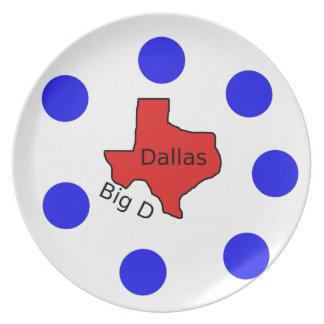 Dallas, Texas City Design (Big D) Plate