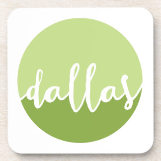 Dallas, Texas| Green Ombre Circle Beverage Coasters