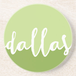 Dallas, Texas| Green Ombre Circle Coasters