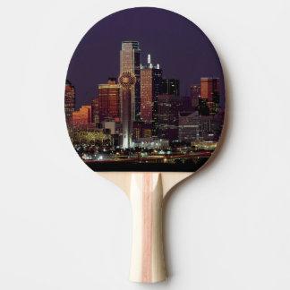 Dallas, Texas night skyline Ping Pong Paddle