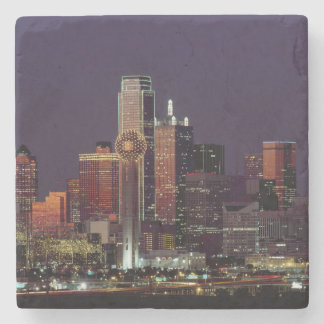 Dallas, Texas night skyline Stone Coaster