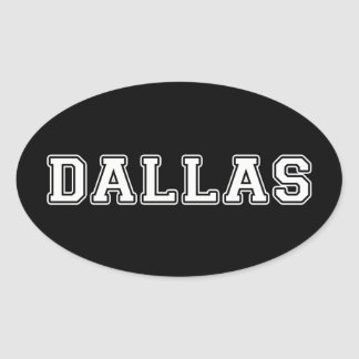 Dallas Texas Oval Sticker