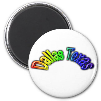 Dallas Texas Popular Rainbow Design Magnet