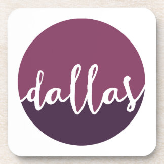 Dallas, Texas| Purple Ombre Circle Coaster