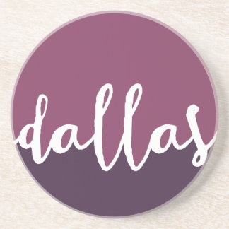 Dallas, Texas| Purple Ombre Circle Drink Coaster