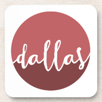 Dallas, Texas| Rust Ombre Circle Beverage Coasters