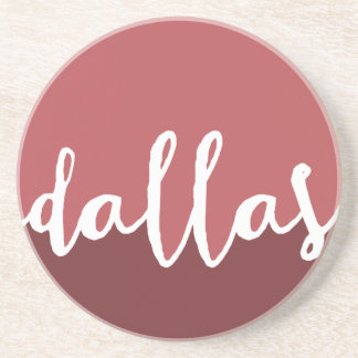 Dallas, Texas| Rust Ombre Circle Drink Coaster