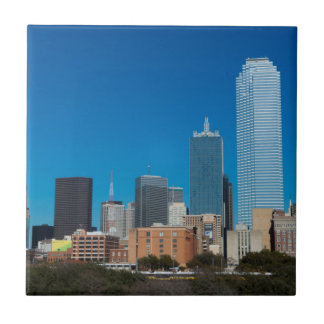 Dallas Texas skyline at sunset Ceramic Tiles
