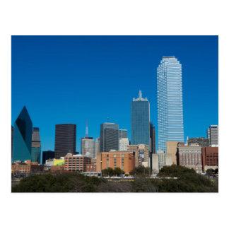 Dallas Texas skyline at sunset Postcard