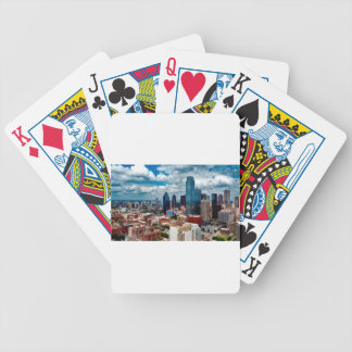 Dallas Texas Skyline Bicycle Playing Cards