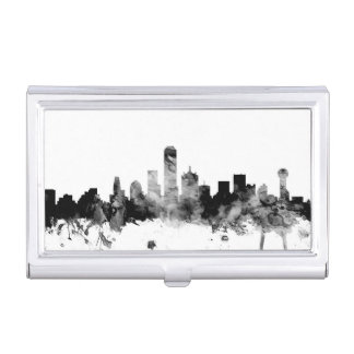 Dallas Texas Skyline Business Card Holder