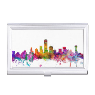 Dallas Texas Skyline Case For Business Cards