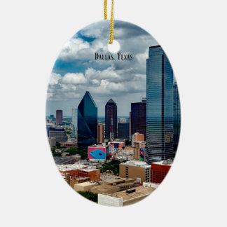Dallas, Texas skyline Ceramic Ornament