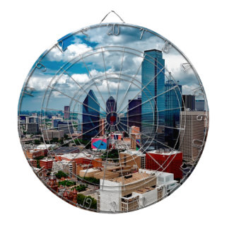 Dallas Texas Skyline Dartboard