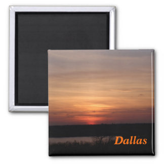 Dallas Texas Sunset Magnet