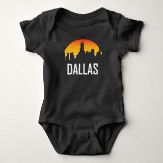 Dallas Texas Sunset Skyline Baby Bodysuit