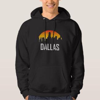 Dallas Texas Sunset Skyline Hoodie
