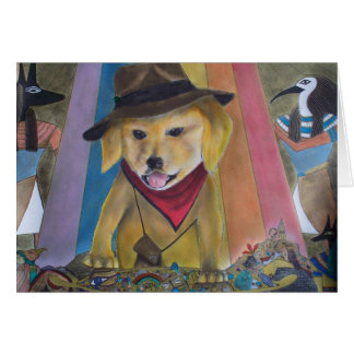 Dallas, the Golden Retriever Card