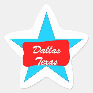 Dallas TX  Texas Lone Star Luggage Travel sticker