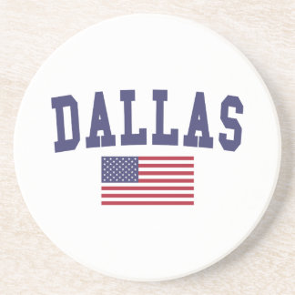 Dallas US Flag Beverage Coaster