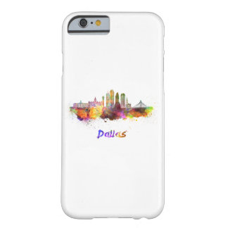 Dallas V2 skyline in watercolor Barely There iPhone 6 Case