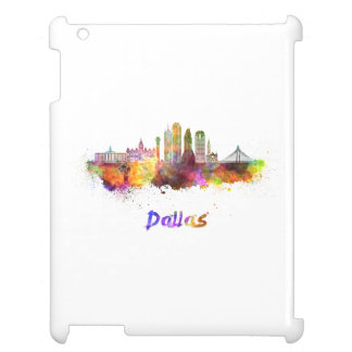 Dallas V2 skyline in watercolor iPad Case