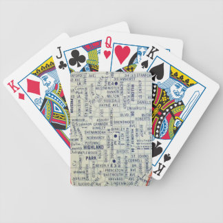 Dallas Vintage Map Bicycle Playing Cards