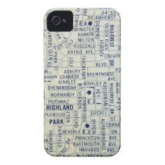 Dallas Vintage Map Case-Mate iPhone 4 Cases
