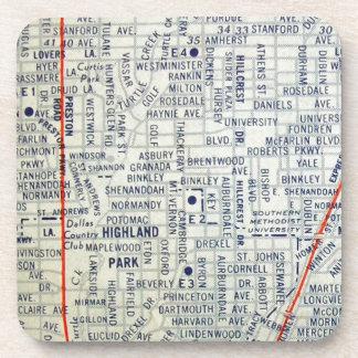 Dallas Vintage Map Coasters