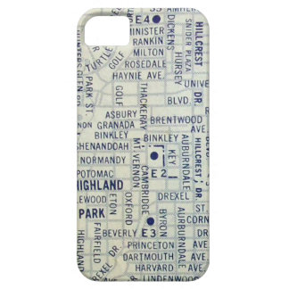 Dallas Vintage Map iPhone 5 Cover