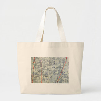 Dallas Vintage Map Large Tote Bag