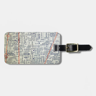 Dallas Vintage Map Luggage Tag