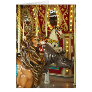 Dallas Zoo Carousel Card