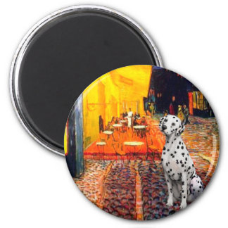 Dalmatian 1 - Terrace Cafe 2 Inch Round Magnet