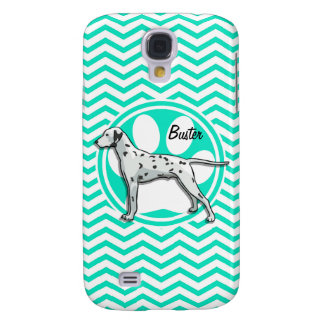 Dalmatian Aqua Green Chevron Samsung Galaxy S4 Cases