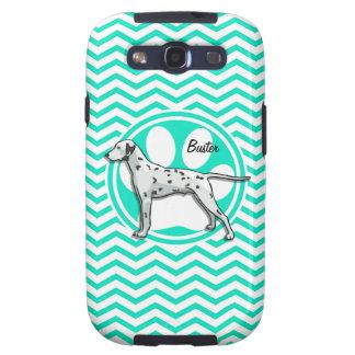 Dalmatian Aqua Green Chevron Galaxy S3 Cover