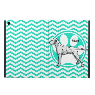 Dalmatian Aqua Green Chevron iPad Air Cover